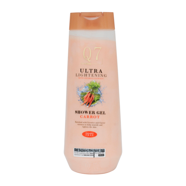 Q7Paris Carrot Ultra-Lightening Shower Gel: With Licorice and Carrot Extract - 850ml