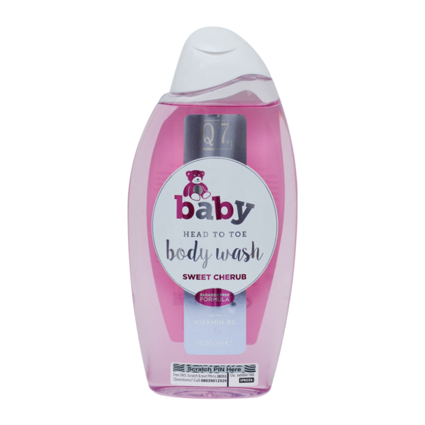 Q7-Baby Head To Toe Bodywash ('Sweet Cherub'): with Vitamin B5 – 400ml
