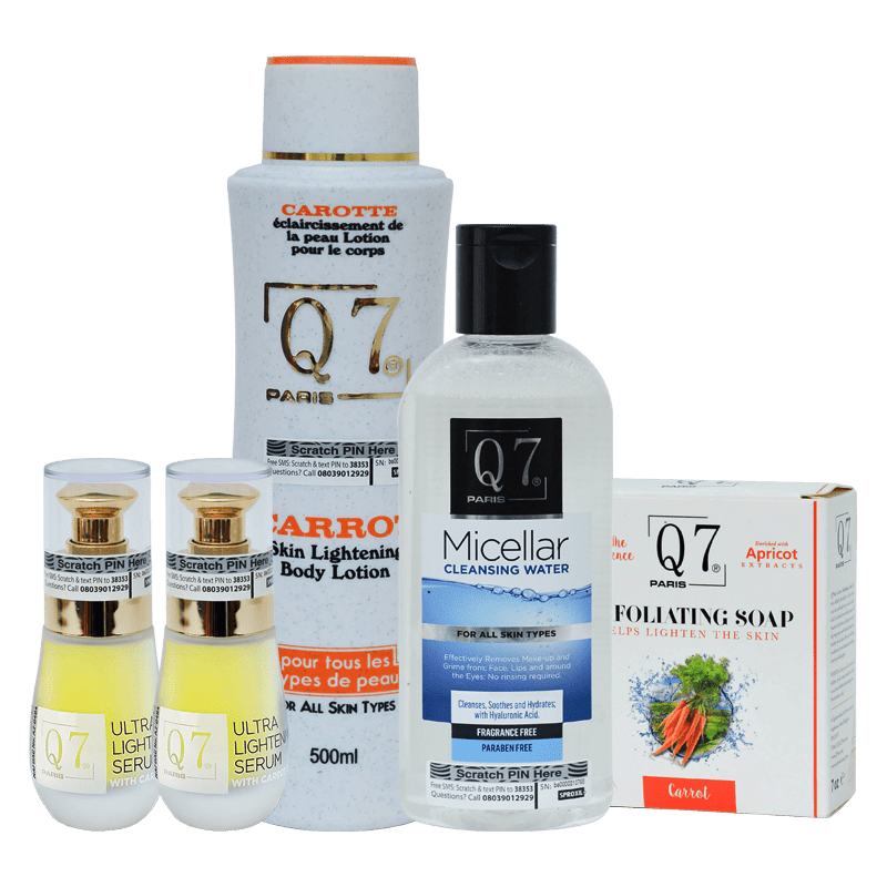 Q7Paris 5-in-1 Carrot Skin Lightening Bundle (body-lotions)