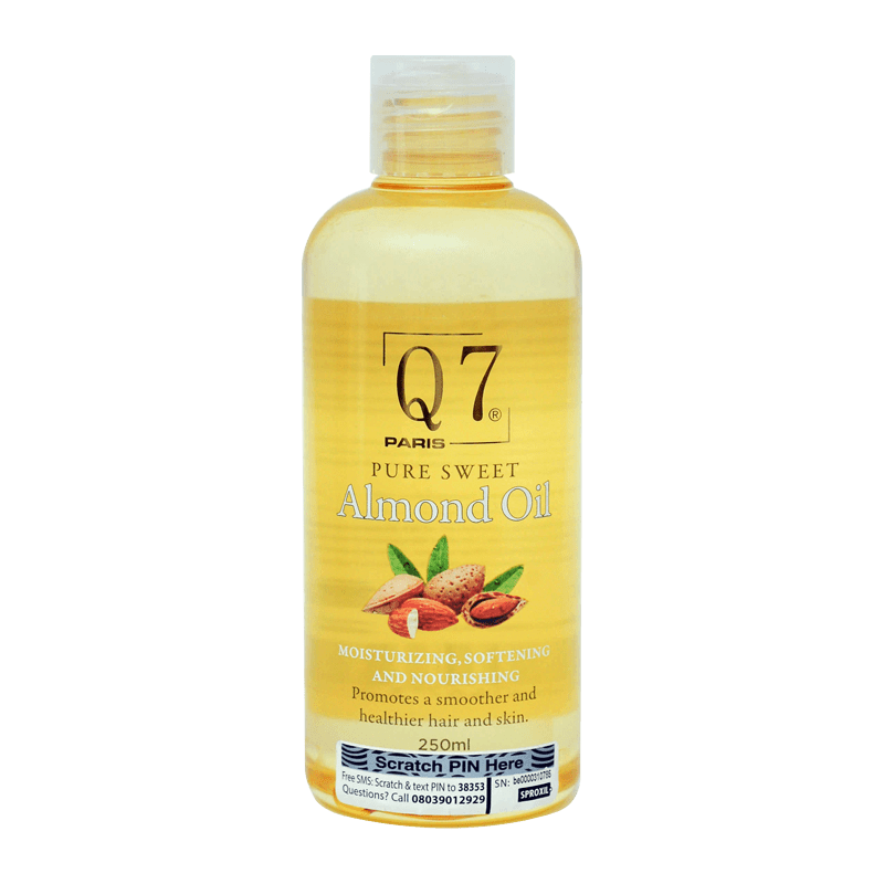Q7Paris 100% Pure Sweet Almond Oil – 250ml