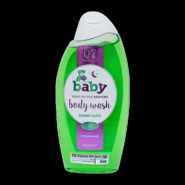 Q7-Baby Head To Toe BEDTIME Bodywash ('Sugar Aloe'): with Vitamin B5 – 400ml