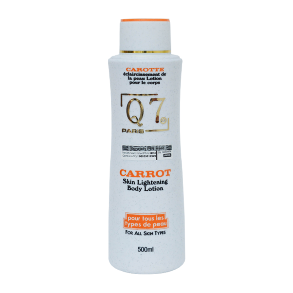 Q7Paris Carrot Skin Lightening Body Lotion – 500ml