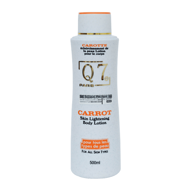 Q7Paris Carrot Skin Lightening Body Lotion – 500ml