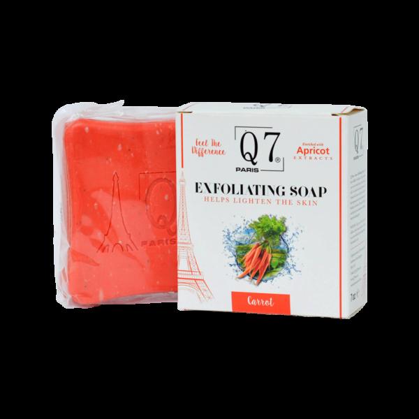 Q7Paris Carrot Exfoliating Soap – 200g