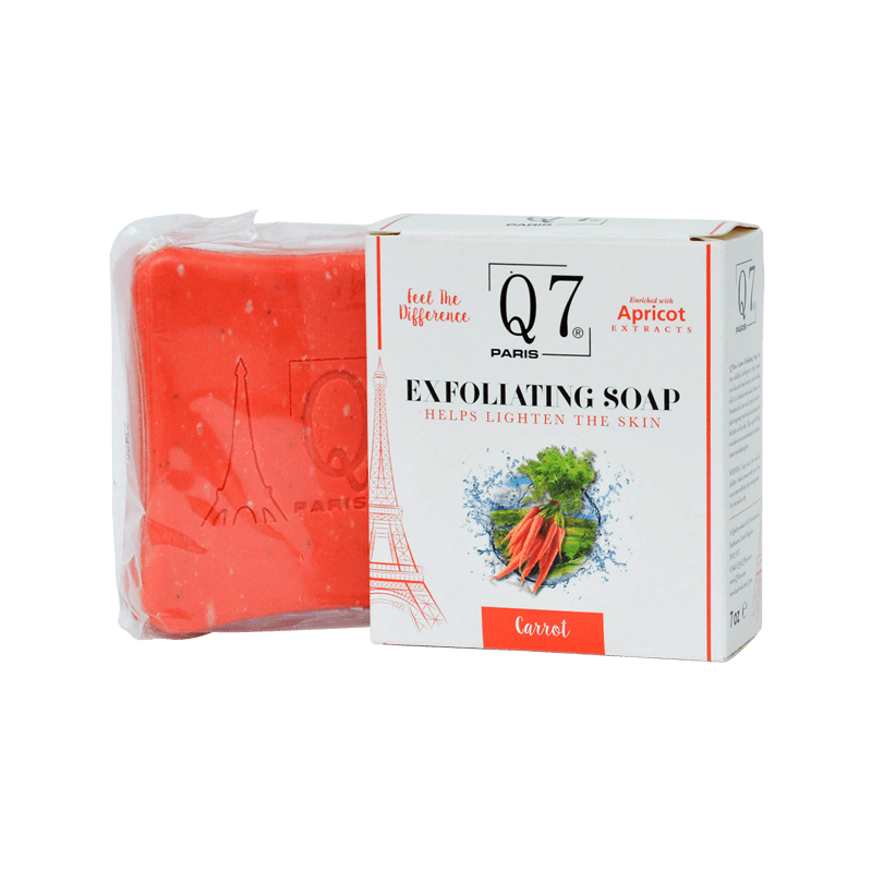 Q7Paris Carrot Exfoliating Soap – 200g