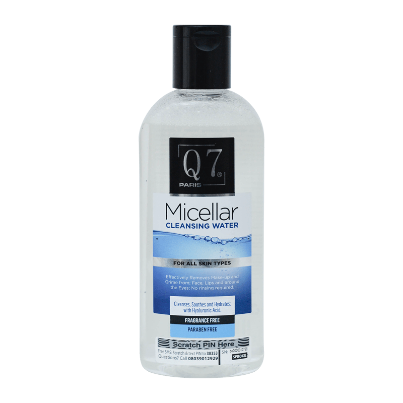 Q7Paris Micellar Cleansing Water – 250ml