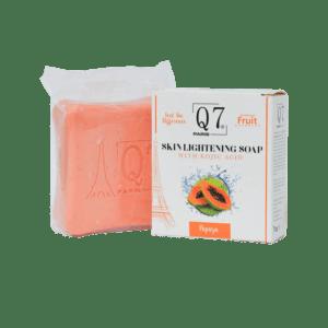 Q7Paris Skin Lightening Soap: With Kojic Acid and Papaya – 200g