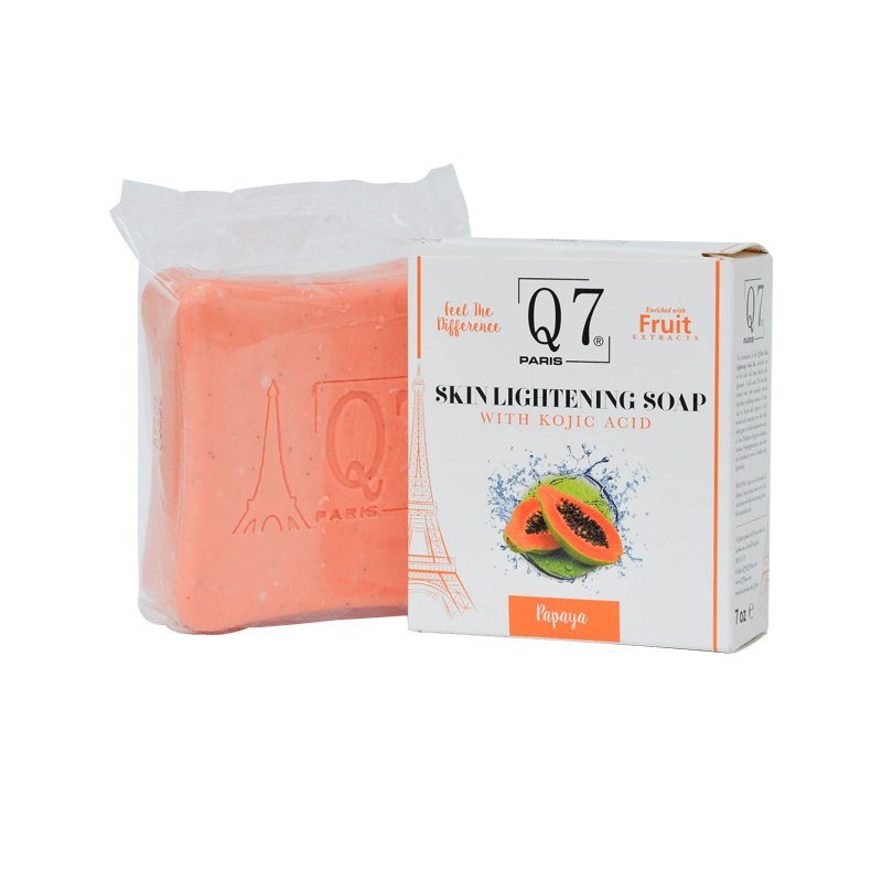 Q7Paris Skin Lightening Soap: With Kojic Acid and Papaya – 200g