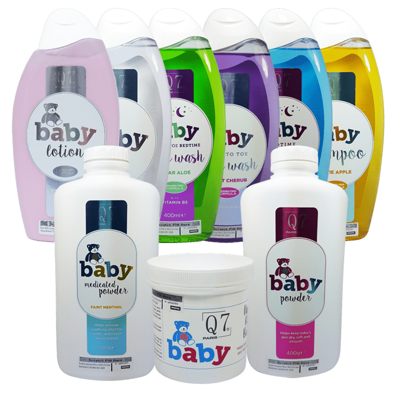 Q7Paris 9-in-1 Essential Baby Skincare Starter Pack (baby-range)
