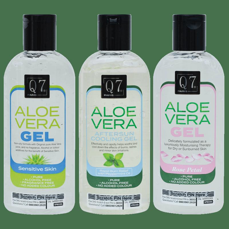 Q7Paris Aloe Vera Gel Range