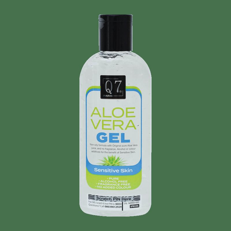 Q7Paris Aloe Vera Gel: Sensitive Skin – 250ml
