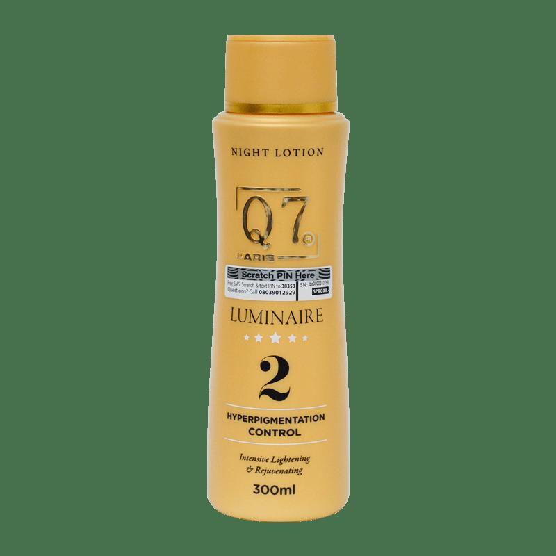 Q7Paris Luminaire Lotion 2 – Hyperpigmentation Control intensive Lightening & Rejuvenating NIGHT LOTION – 300ml
