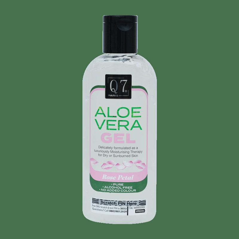Q7Paris Aloe Vera Gel: Rose petal – 250ml
