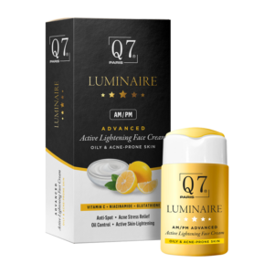 Q7 Paris Luminaire AM-PM Advanced Active Lightening Face Cream with Vitamin C Niacinamide and Glutathione Sensitive Oily and Acne-Prone skin 30ml