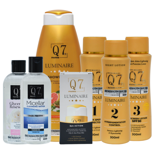 Q7Paris The Luminaire Intensive Lightening Bundle 7-in-1 Oily Acne-Prone and Sensitive Skin bundle